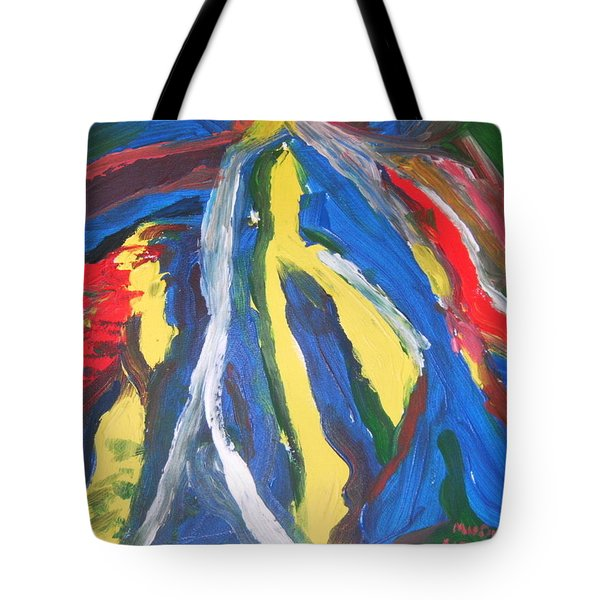 Tote Bag featuring the painting Road To Mokasi Village by Mudiama Kammoh