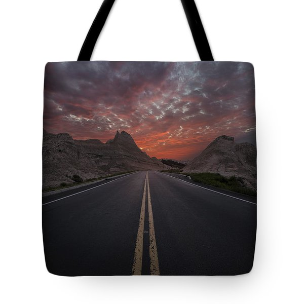Road To Nowhere Badlands Tote Bag