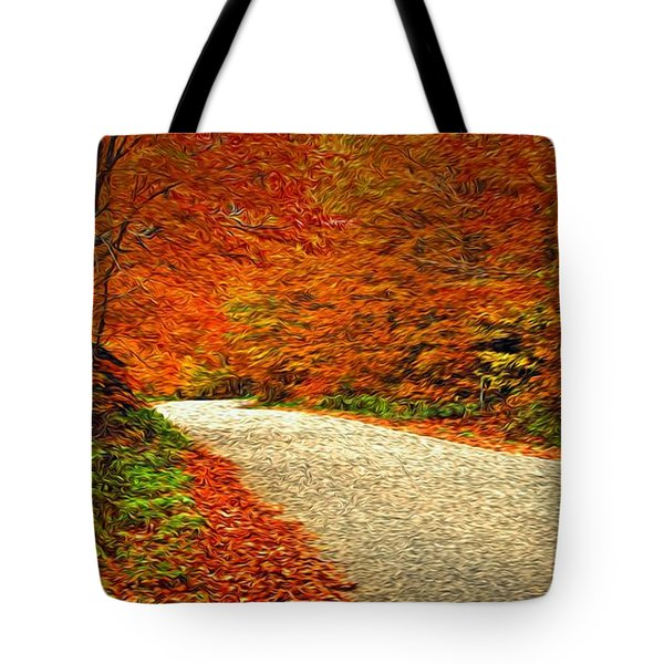 Road To Nowhere Tote Bag by Bill Howard
