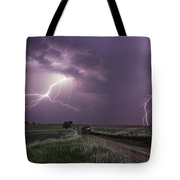 Road To Nowhere - Lightning Tote Bag