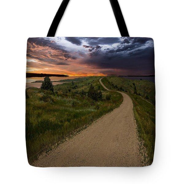 Road To Nowhere - Stormy Little Bend Tote Bag