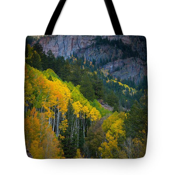 Road To Silver Mountain Tote Bag by Inge Johnsson
