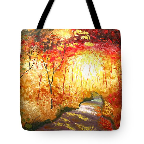 Road To The Sun Tote Bag