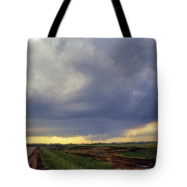 Road To The Tornado - Woonsocket South Dakota Tote Bag by Jason Politte
