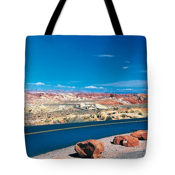 Road Valley Of Fire State Park Overton Tote Bag