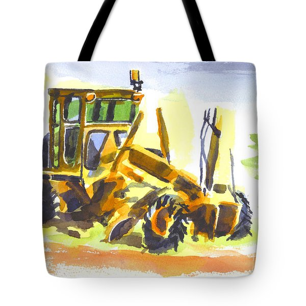 Roadmaster Tractor In Watercolor Tote Bag by Kip DeVore