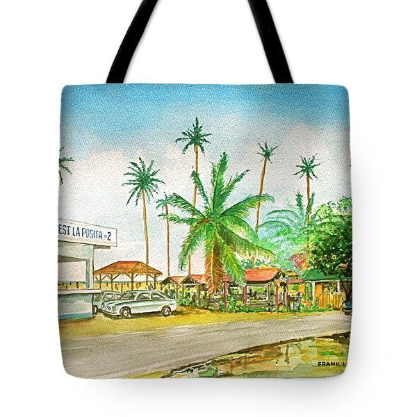 Roadside Food Stands Puerto Rico Tote Bag by Frank Hunter