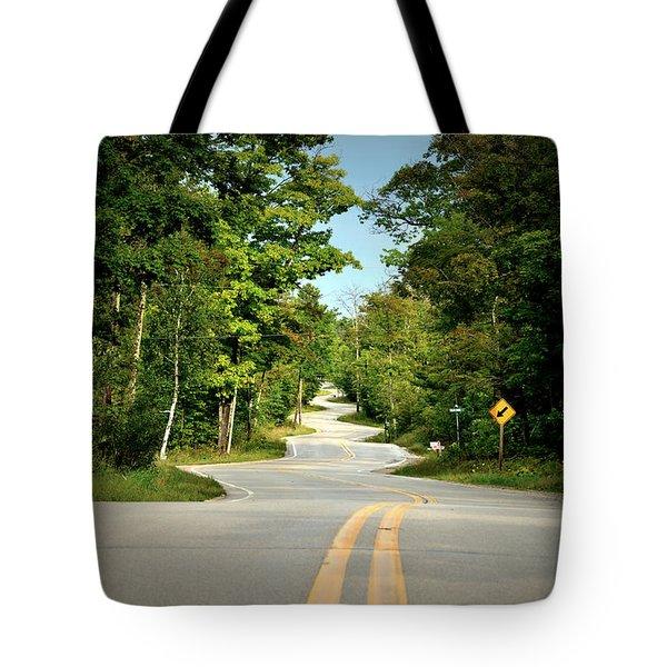 Roadway Slalom Tote Bag