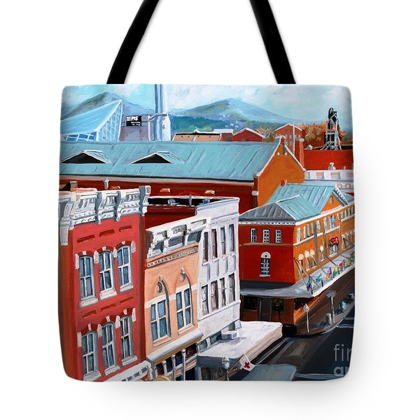 Roanoke City Market Tote Bag by Todd Bandy
