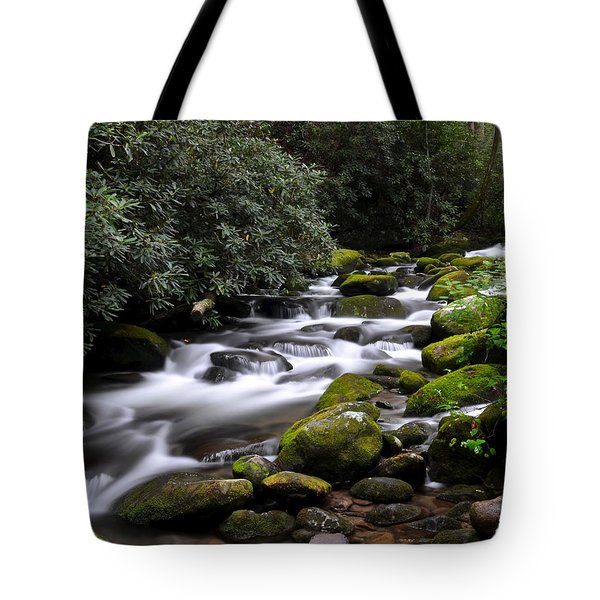 Roaring Fork Tote Bag by Frozen in Time Fine Art Photography