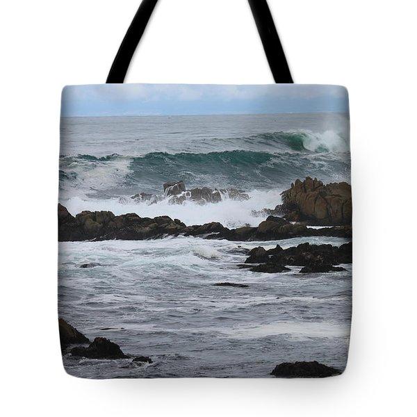 Roaring Sea Tote Bag by Bev Conover