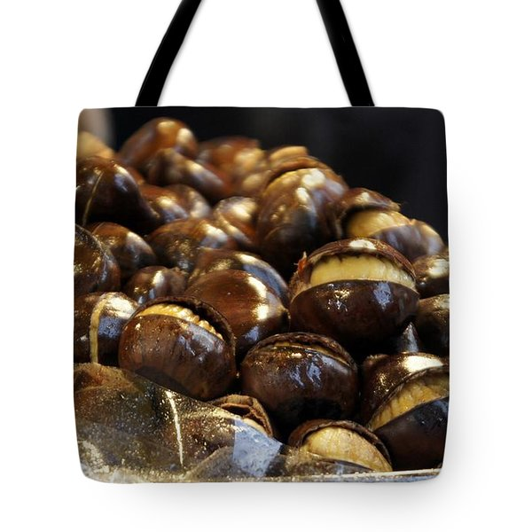 Tote Bag featuring the photograph Roasted Chestnuts by Lilliana Mendez