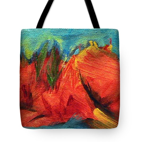 Roasted Rock Coast Tote Bag by Elizabeth Fontaine-Barr