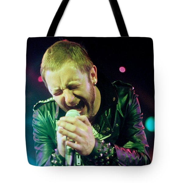 Rob Halford Of Judas Priest Without Flames Effect- Warfield Theater During British Steel-unreleased  Tote Bag