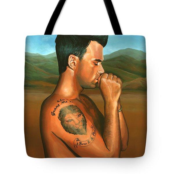 Robbie Williams 2 Tote Bag by Paul Meijering
