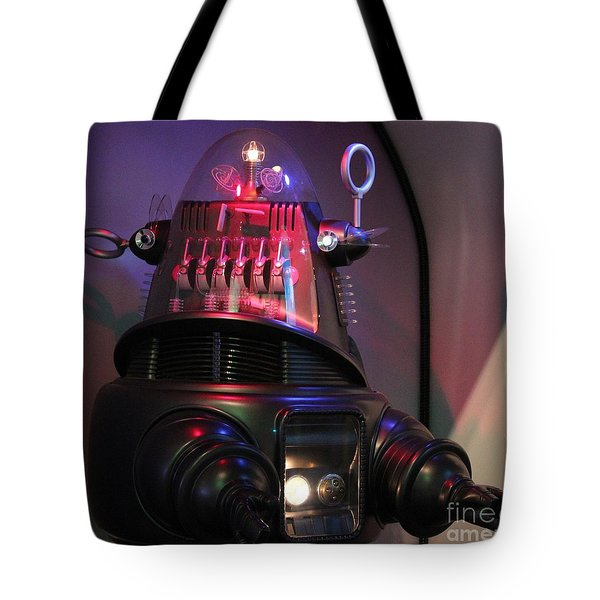 Tote Bag featuring the photograph Robby The Robot 1956 by Cynthia Snyder