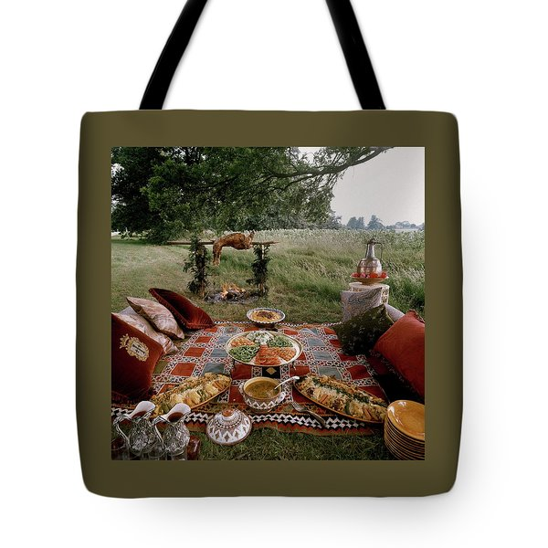 Robert Carrier's Moroccan Picnic In A Field Tote Bag
