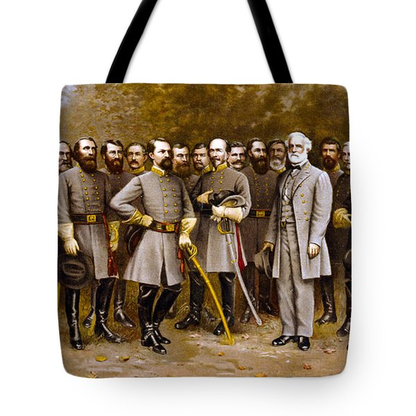 Robert E. Lee And His Generals Tote Bag