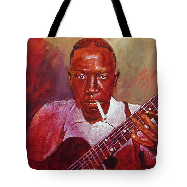 Robert Johnson Photo Booth Portrait Tote Bag