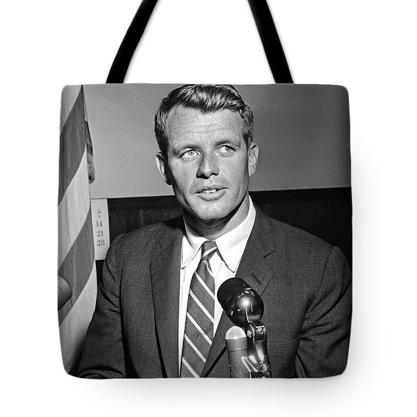 Tote Bag featuring the photograph Robert Kennedy 1961 by Martin Konopacki Restoration