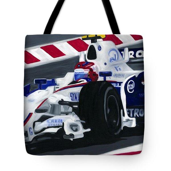 Robert Kubica Wins F1 Canadian Grand Prix 2008  Tote Bag