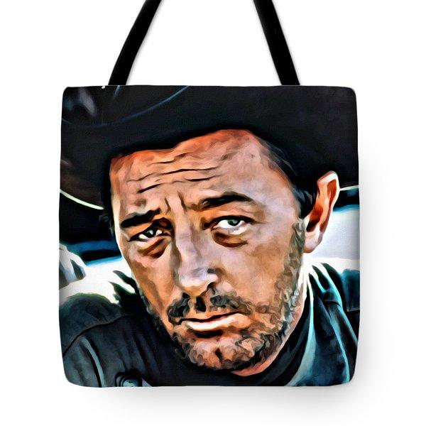 Robert Mitchum Tote Bag by Florian Rodarte