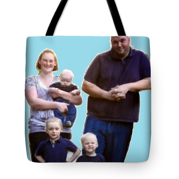 Tote Bag featuring the painting Robert Nutting Family by Bruce Nutting