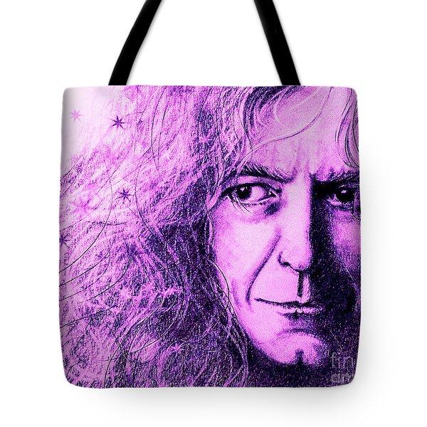 Robert Plant Purple Tote Bag by Patrice Torrillo