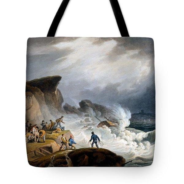 Robin Hoods Bay, Yorkshire, 1825 Tote Bag by Francis Nicholson