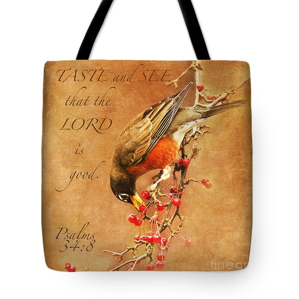 Robin Psalms Thirty-four Tote Bag
