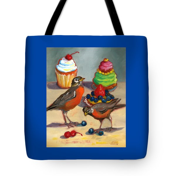 Robins And Desserts Tote Bag