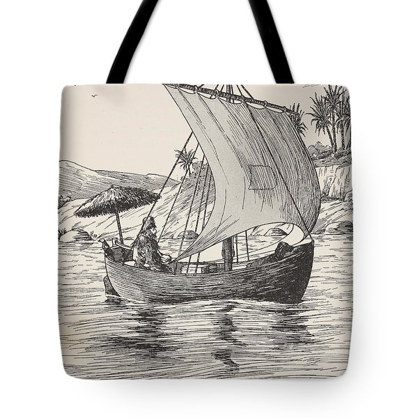 Robinson Crusoe On His Boat Tote Bag