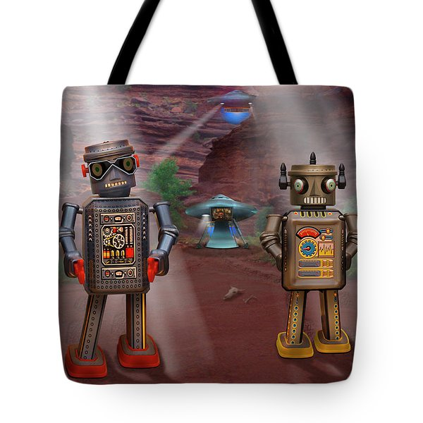 Robots With Attitudes  Tote Bag