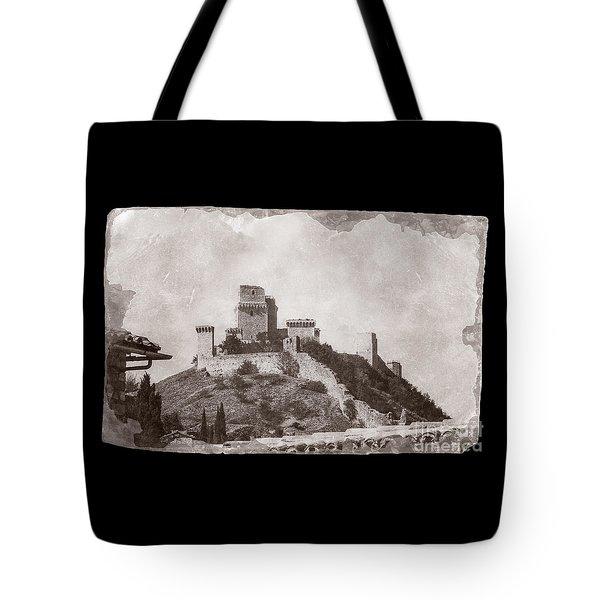 Rocca Maggiore Castle Tote Bag
