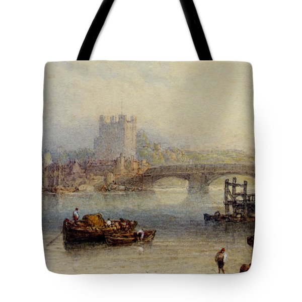 Rochester From The River Tote Bag by Myles Birket Foster
