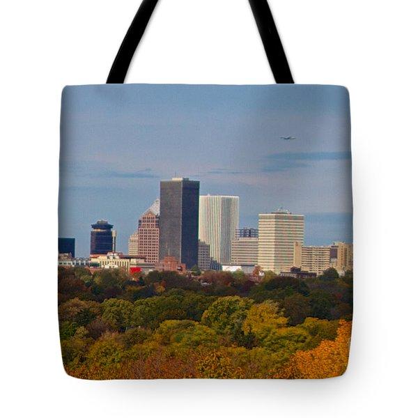 Rochester Skyline Tote Bag by William Norton