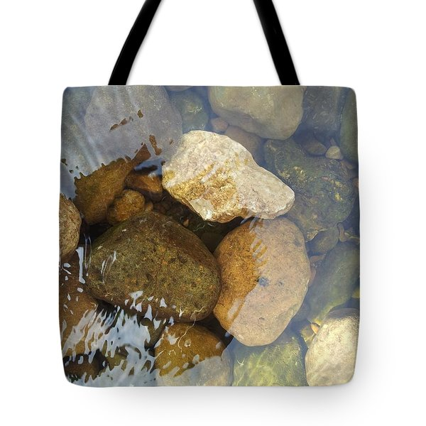 Rock And Pebbles Tote Bag by David Stribbling