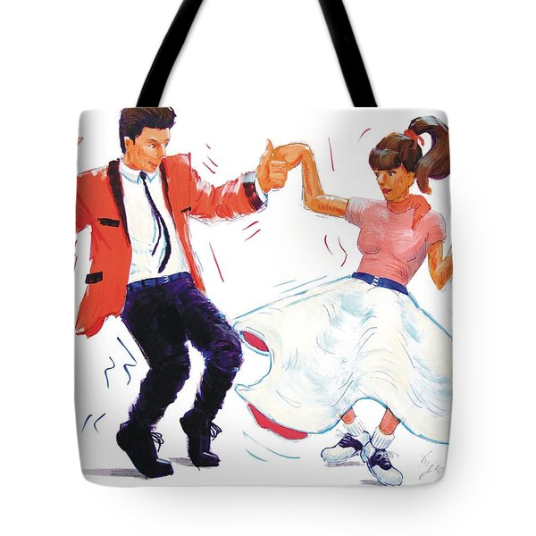 Rock And Roll Dancers Tote Bag
