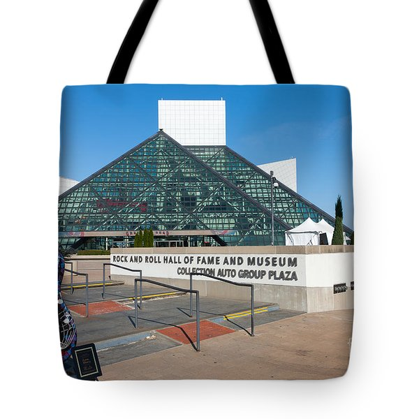 Rock And Roll Hall Of Fame IIi Tote Bag by Clarence Holmes