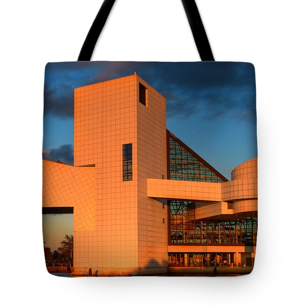 Tote Bag featuring the photograph Rock And Roll Hall Of Fame by Jerry Fornarotto