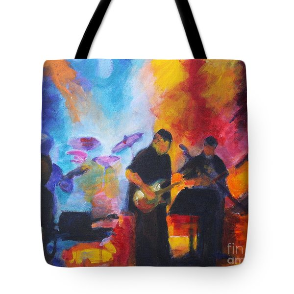 Rock And Roll Tote Bag by Jan Bennicoff