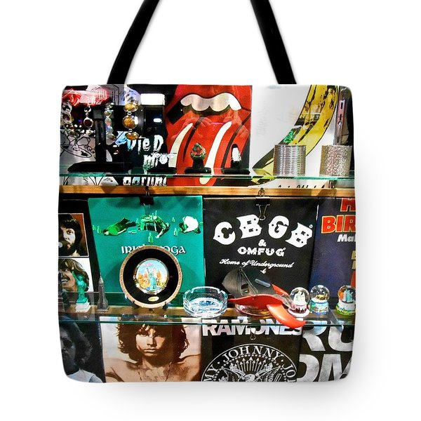 Rock And Roll On St. Marks   Nyc Tote Bag