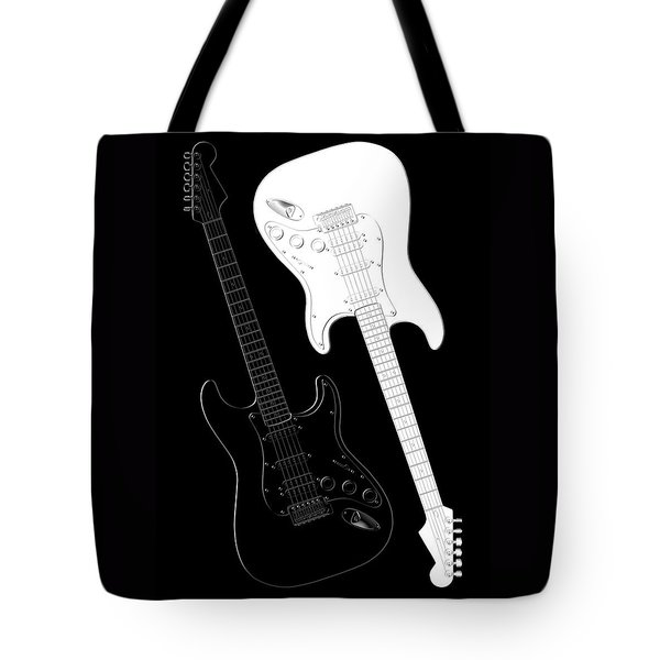 Rock And Roll Yin Yang Tote Bag