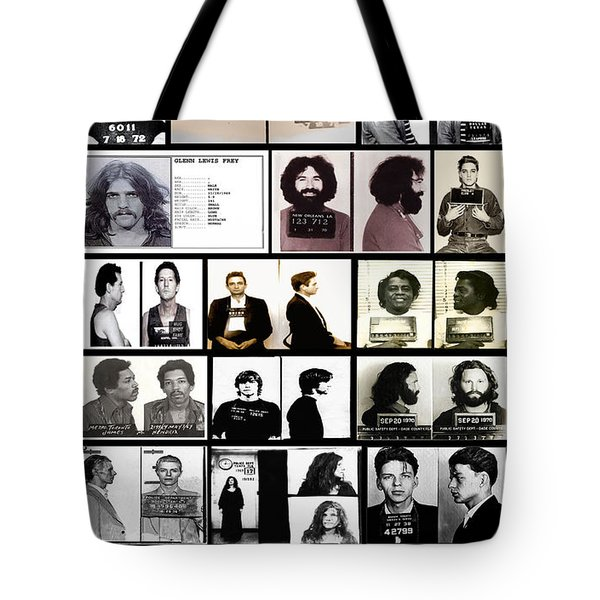Rock And Roll's Most Wanted Tote Bag