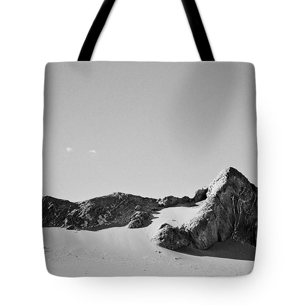 Tote Bag featuring the photograph Rock And Sand by Lana Enderle