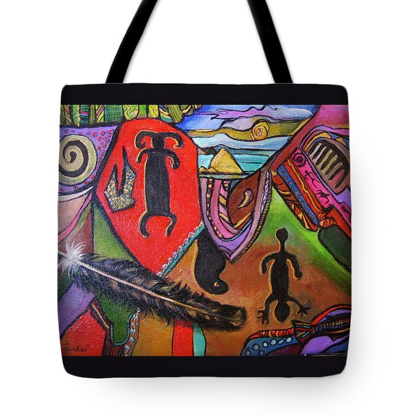Rock Art Of Nevada Tote Bag