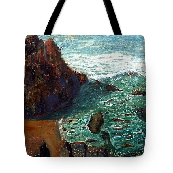 Rock Beach And Sea Tote Bag