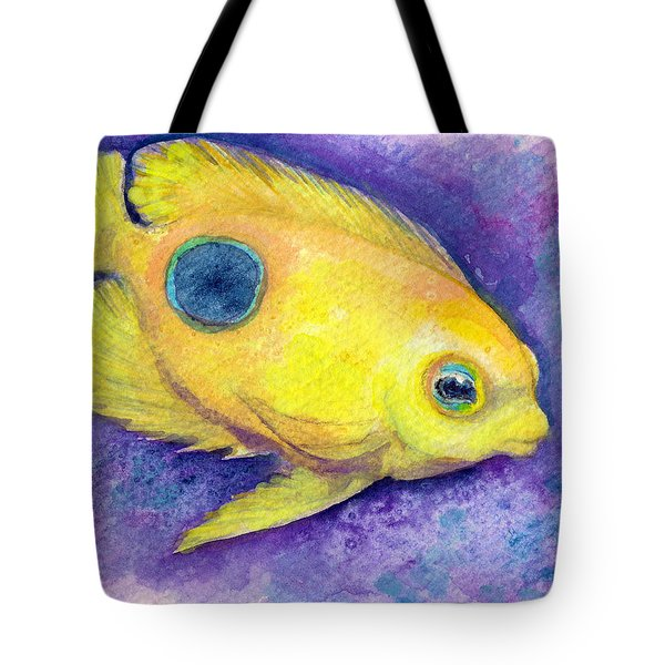 Tote Bag featuring the painting Rock Beauty by Ashley Kujan