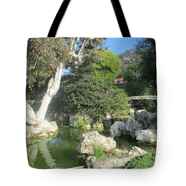 Stone Bridge Pond Tote Bag