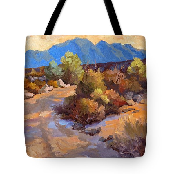 Rock Cairn At La Quinta Cove Tote Bag